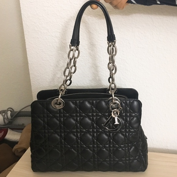 991e2d7f54 Dior Bags | Auth Christian Lady Bag Black Med To Large | Poshmark